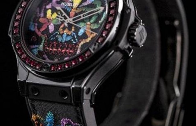 ���� Big Bang 41MM Broderie Sugar Skull ����������� �������� Hublot